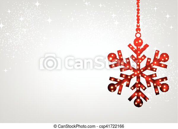 Christmas background with red snowflake. - csp41722166