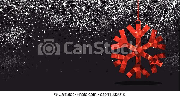 Christmas background with red snowflake. - csp41833018