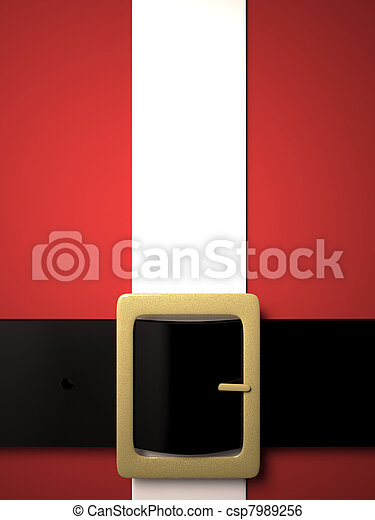 christmas background with santa claus belt and golden buckle csp7989256 - Santa Claus Belt