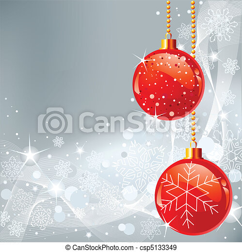Christmas background with snowfla - csp5133349