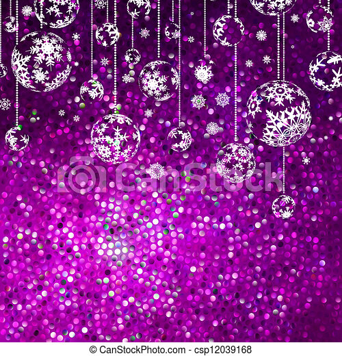 Christmas background with snowflakes. EPS 8 - csp12039168