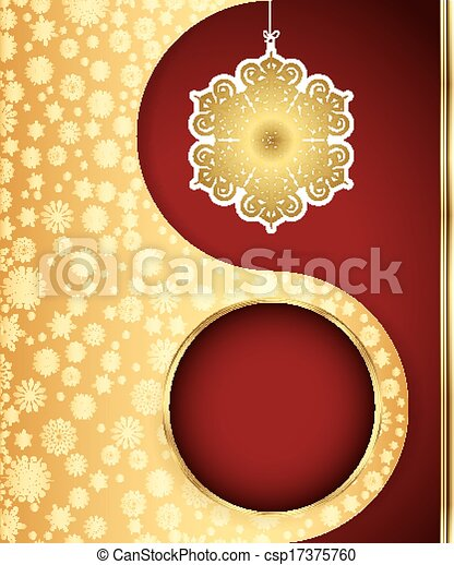 Christmas background with snowflakes design. Vector - csp17375760