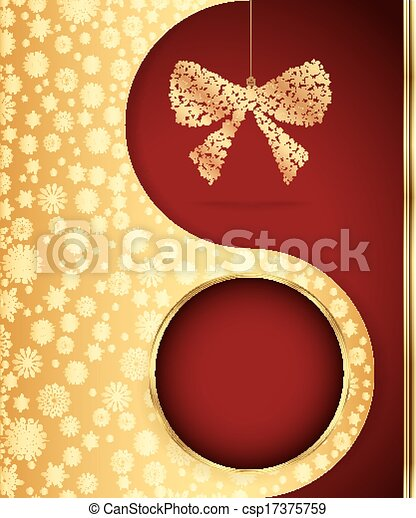 Christmas background with snowflakes design. Vector - csp17375759