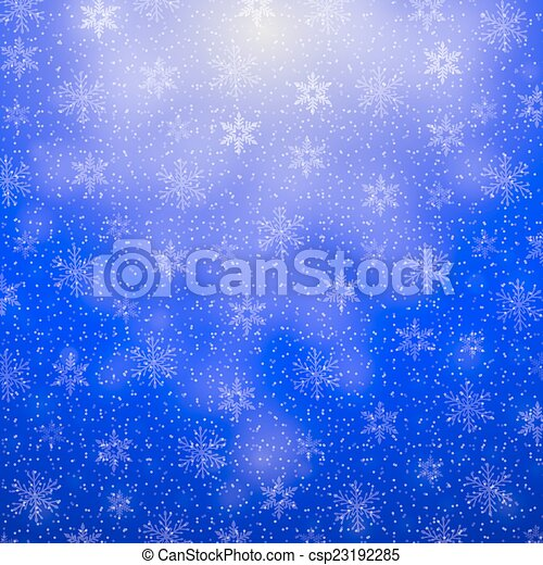 christmas background with snowflakes - csp23192285