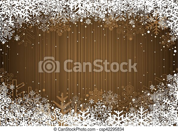 Christmas Background with Snowflakes - csp42295834