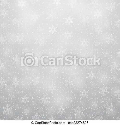 christmas background with snowflakes - csp23274828