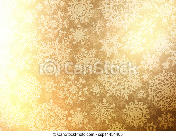 Christmas background with snowflakes. EPS 8 - csp11454405