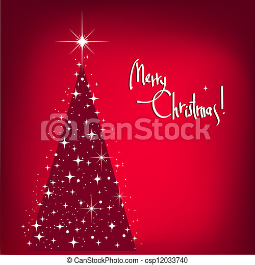 Christmas Background with Tree and  - csp12033740