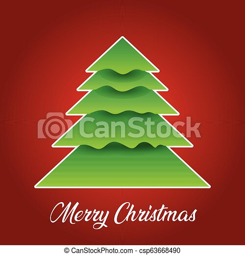 Christmas background with tree design - csp63668490