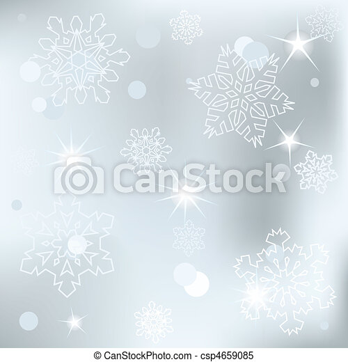 Christmas background with white sn - csp4659085