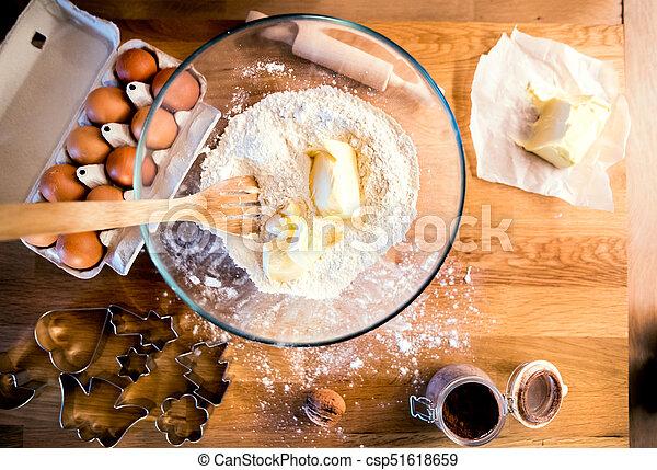 Christmas baking ingredients. - csp51618659