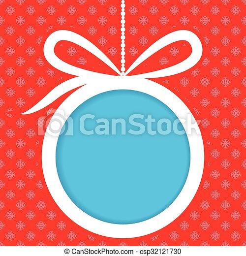 Christmas ball banner design - csp32121730