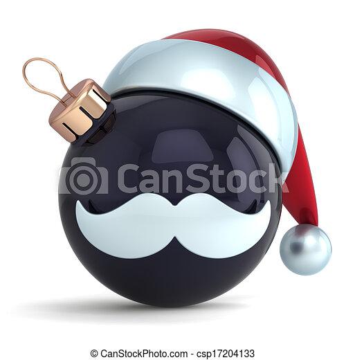 3aeb20973ed76 Christmas ball black santa claus. Christmas ball ornament santa ...