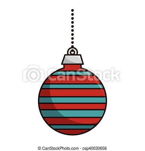 Christmas Ball Decoration Colorful Season Clipart