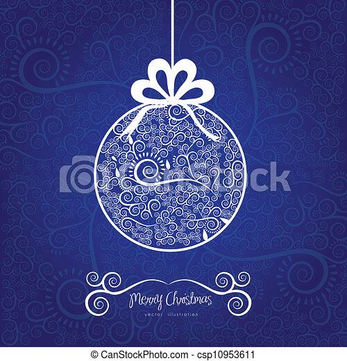 Christmas ball hanging on - csp10953611