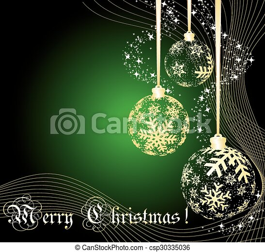 Christmas ball made from golden snowflakes - csp30335036