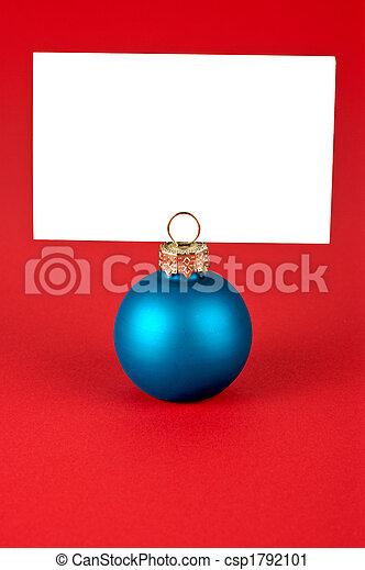 Christmas ball memo - csp1792101