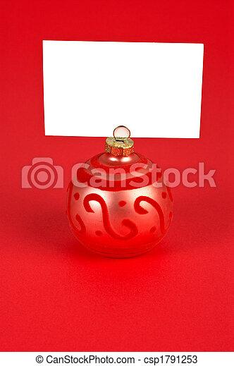 Christmas ball memo - csp1791253