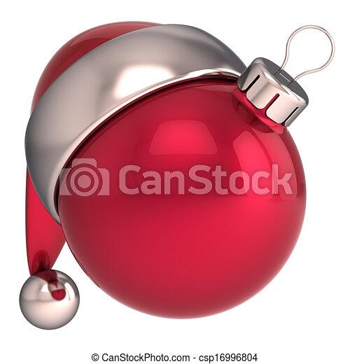 be4c898e8c556 Christmas ball new year santa icon. Christmas ball happy new year ...