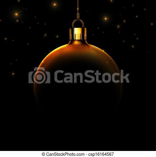 Christmas ball on black background - csp16164567