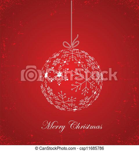 Christmas ball vector illustration - csp11685786