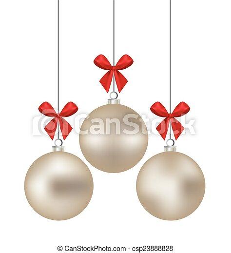 Christmas ball. Vector illustration - csp23888828