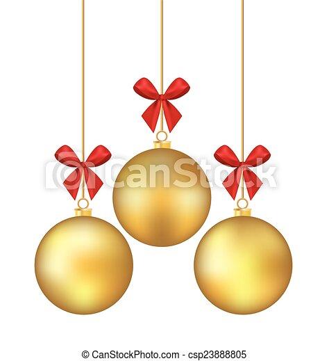 Christmas ball. Vector illustration - csp23888805