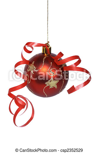 Christmas ball with a ribbon - csp2352529