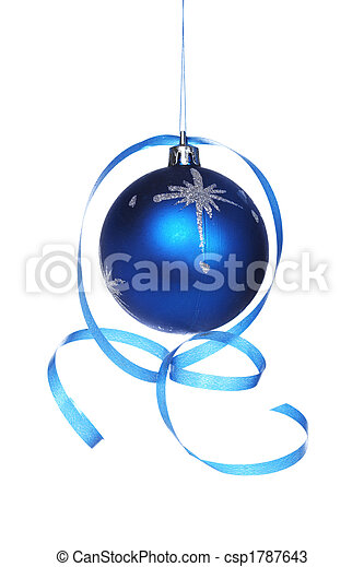 Christmas ball with a ribbon - csp1787643
