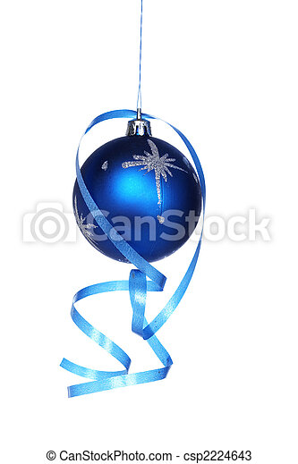 Christmas ball with a ribbon - csp2224643