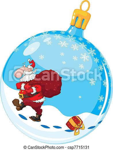 christmas ball with Santa - csp7715131