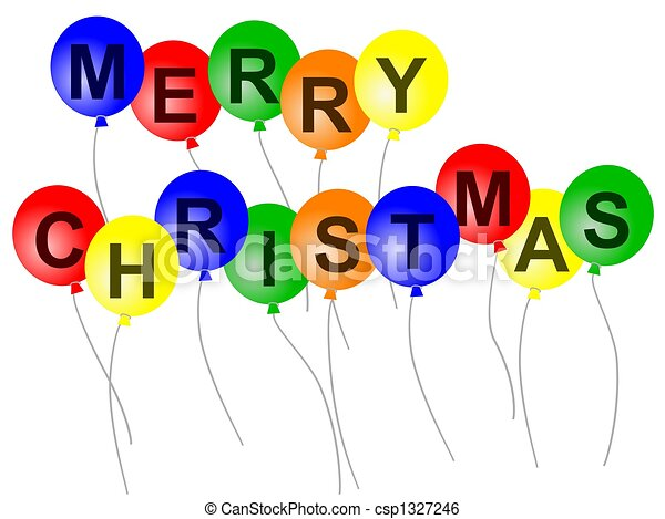 Christmas Balloons Illustrations And Clip Art 19 374