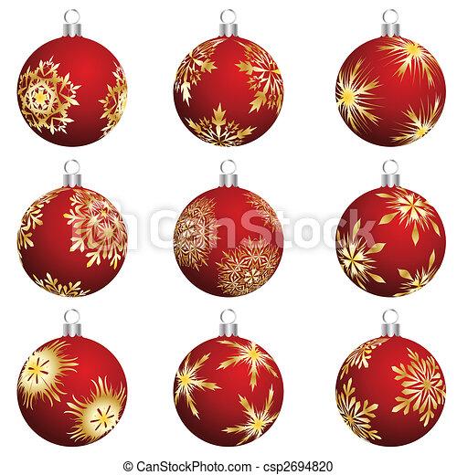 christmas balls set - csp2694820