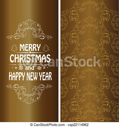 christmas banner in the victorian style csp22114962