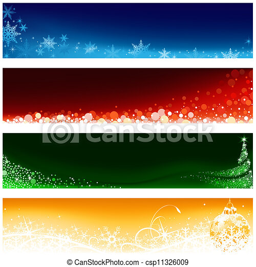 Christmas Banner Set - csp11326009