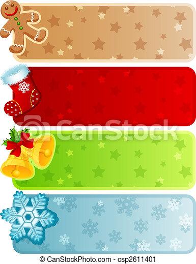 christmas banner - csp2611401