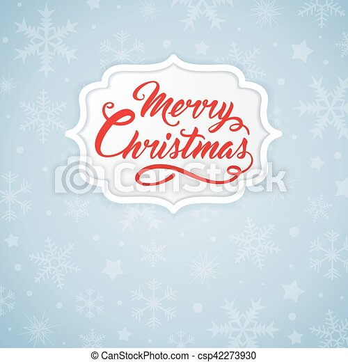 Christmas banner with red inscription - csp42273930