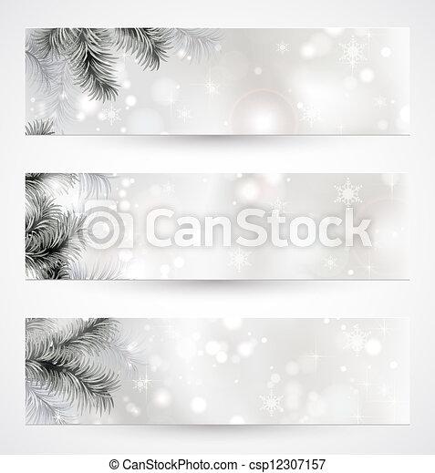 Christmas banners  - csp12307157