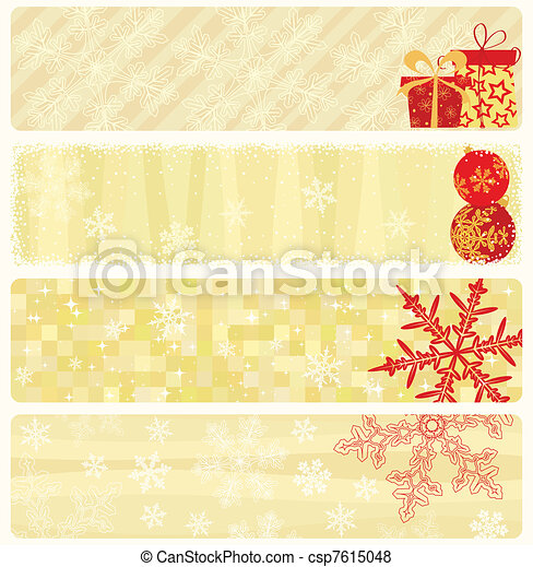 Christmas banners collection. - csp7615048