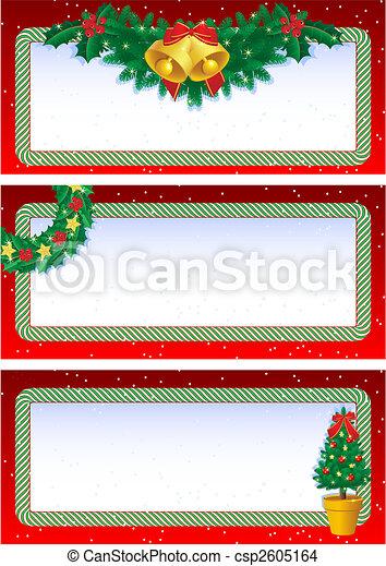christmas banners - csp2605164