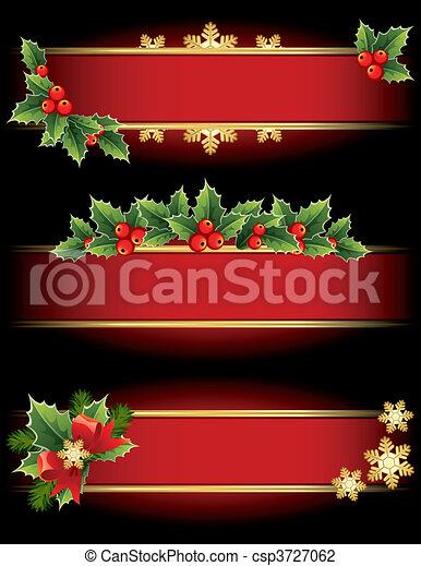 Christmas banners - csp3727062
