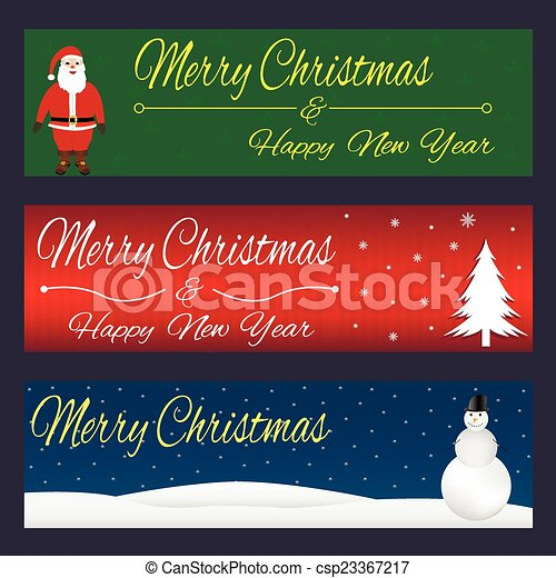 christmas banners vector merry christmas and happy new year banner design background set https www canstockphoto com christmas banners 23367217 html
