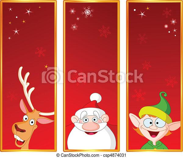 Christmas banners - csp4874031