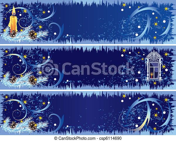 Christmas banners - csp6114690