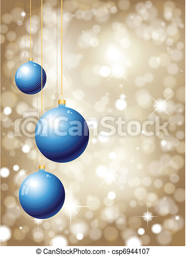 christmas bauble background - csp6944107
