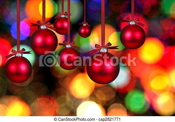 Christmas Bauble Bulbs - csp2821771