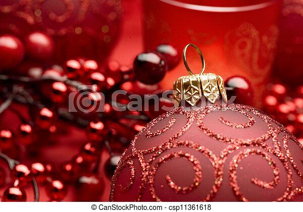 Christmas Bauble closeup - csp11361618