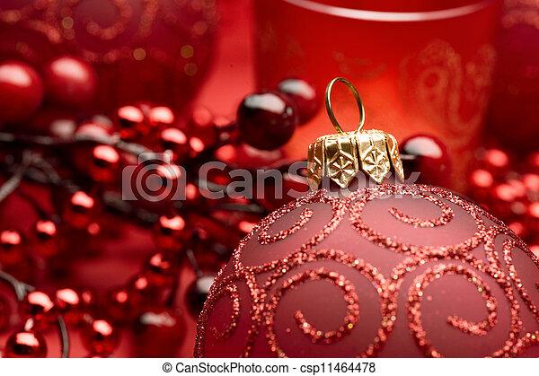 Christmas Bauble closeup - csp11464478