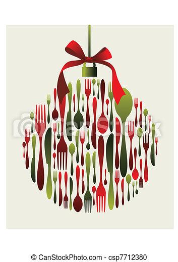 Christmas Bauble Cutlery  - csp7712380