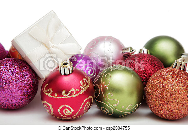 Christmas Baubles and Gift - csp2304755